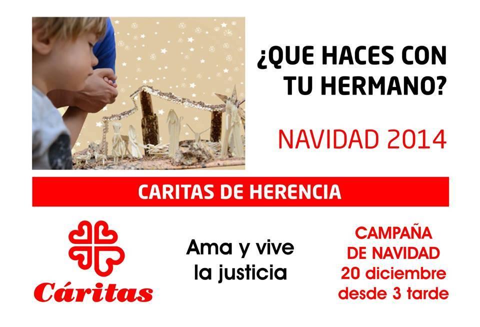 Campaña de navidad de Cáritas Herencia - Campaña de Navidad de Cáritas para recoger alimentos