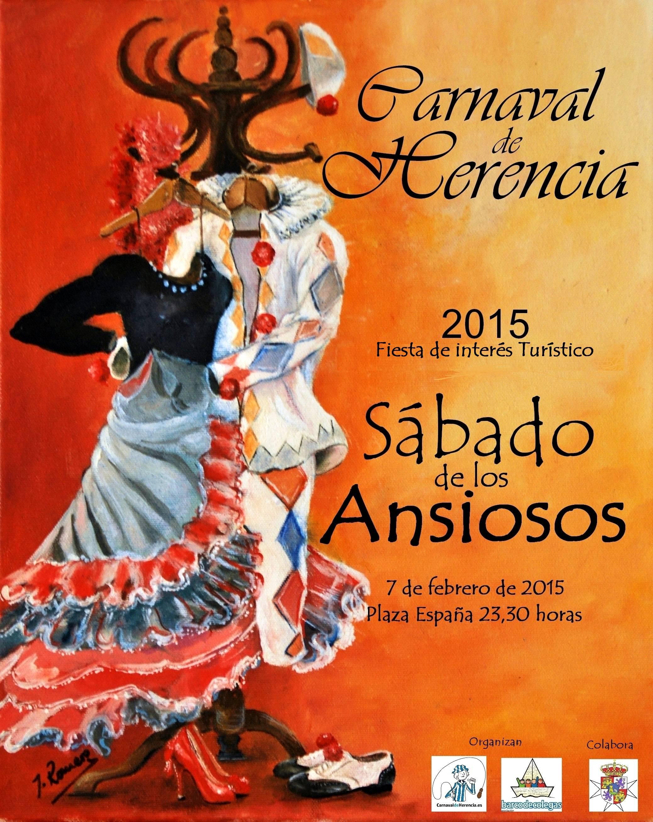 Cartel carnaval herencia Sabado de los Ansiosos 2015 - Presentado el programa de actos del Carnaval que comienza esta semana