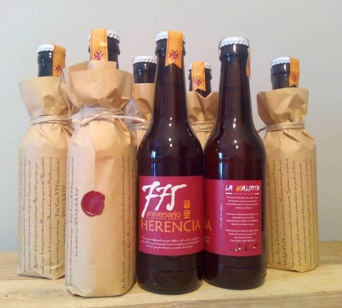 Cerveza La Maldita edición limitada 775 aniversario de Herencia
