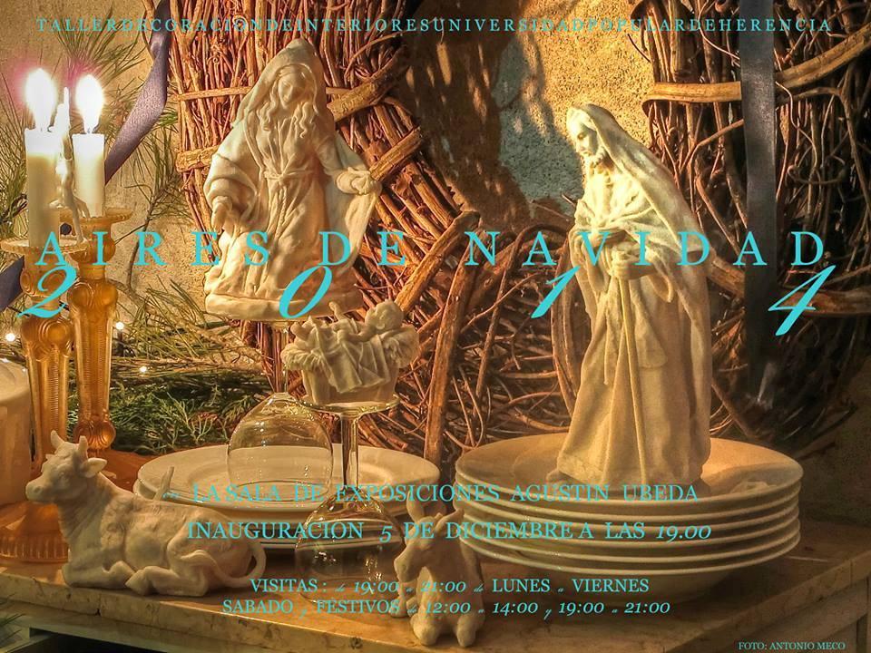 Exposición Aires de Navidad en Herencia - Aires de navidad, nueva propuesta expositiva del taller de decoración de la UP