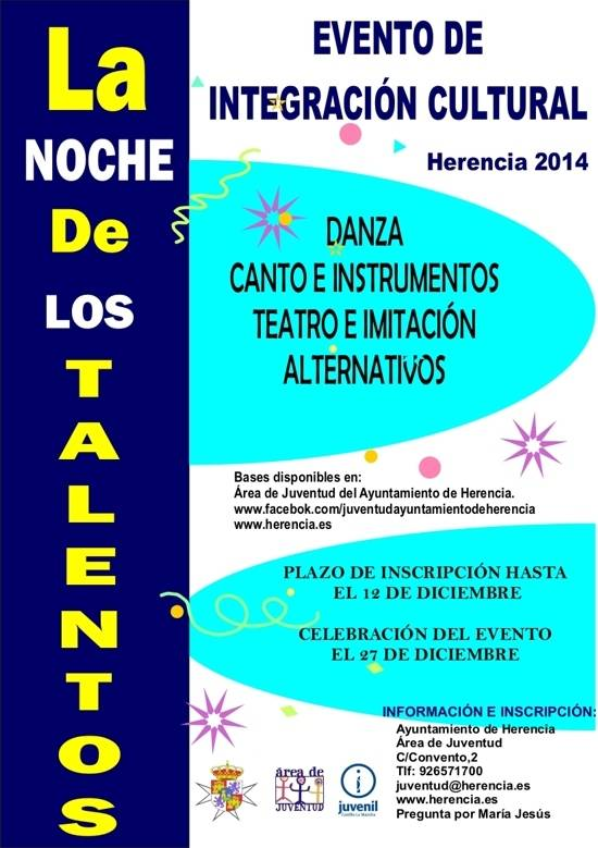 Herencia Evento de integracion cultural g - Noche de los Talentos en Herencia