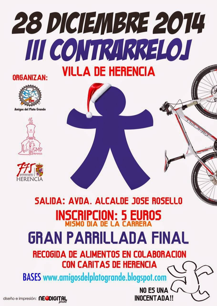 Cartel III contrarreloj de bicicleta de montaña de Herencia