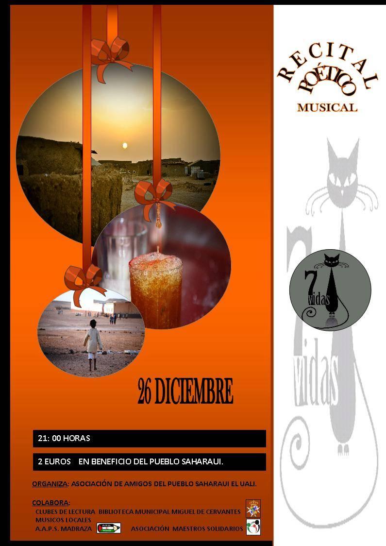RECITAL 7 VIDAS - Recital poético musical en apoyo al pueblo saharaui
