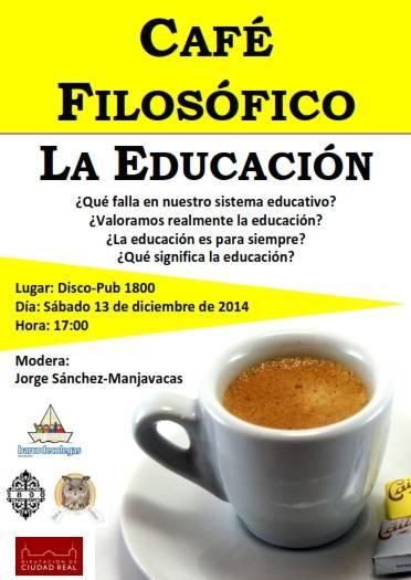 caf%C3%A9 fil%C3%B3sofico - Café filosófico y cuentacuentos con Félix Albo, propuestas para el sábado 13 de diciembre