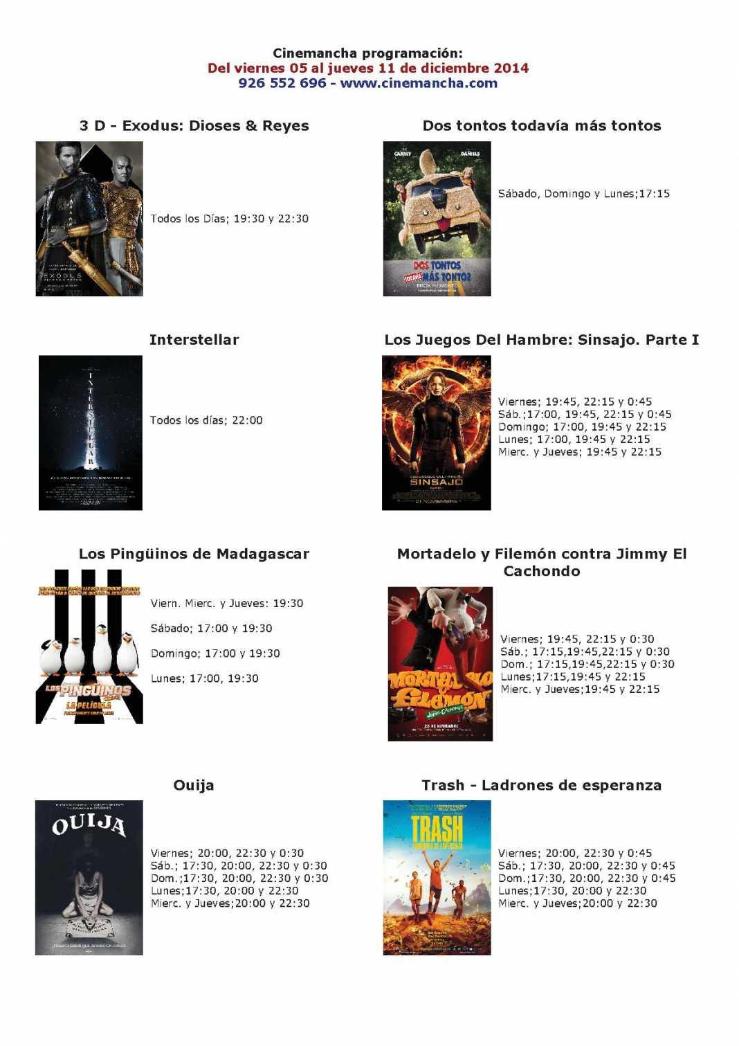 cartelera de cinemancha del 05 al 11 de diciembre 1068x1511 - Cartelera de Cinemancha del 05 al 11  de diciembre