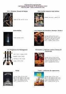 cartelera de cinemancha del 05 al 11  de diciembre