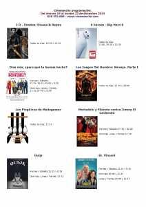 cartelera de cinemancha del 19 al 23 de diciembre 212x300 - Cinemancha programación: Del viernes 19 al martes 23 de diciembre 2014