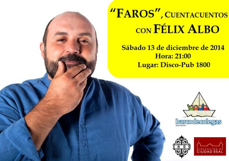 Café filosófico y cuentacuentos con Félix Albo, propuestas para el sábado 13 de diciembre 1