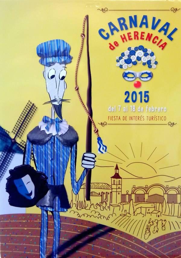 herencia cartel carnaval herencia 2015  - Guía turística del carnaval de Herencia y programa de actividades 2015 descargable en pdf