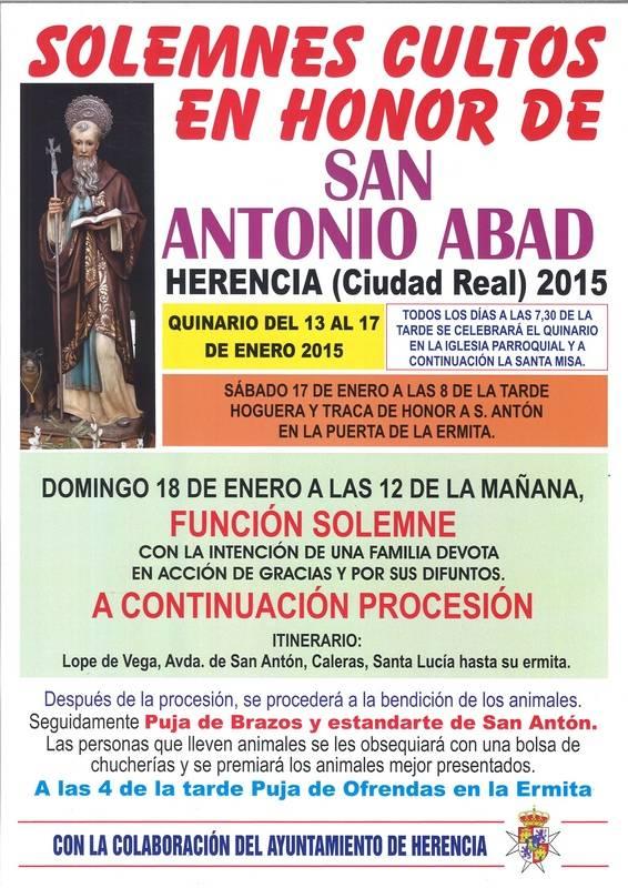 Festividad de San Antón 2015 en Herencia