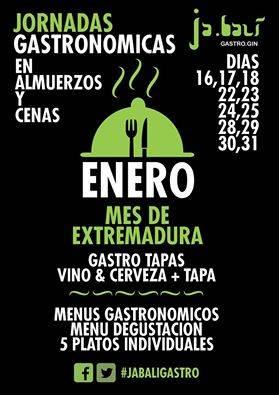 Jornadas Gastronomicas restaurante Ja.bali Gastro Gin Extremadura - Jabalí Gastro Gin prepara unas Jornadas gastronómicas