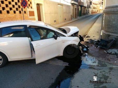 accidente coche herencia ciudad real 6 457x343 - Accidente de coche en Plaza Cervantes