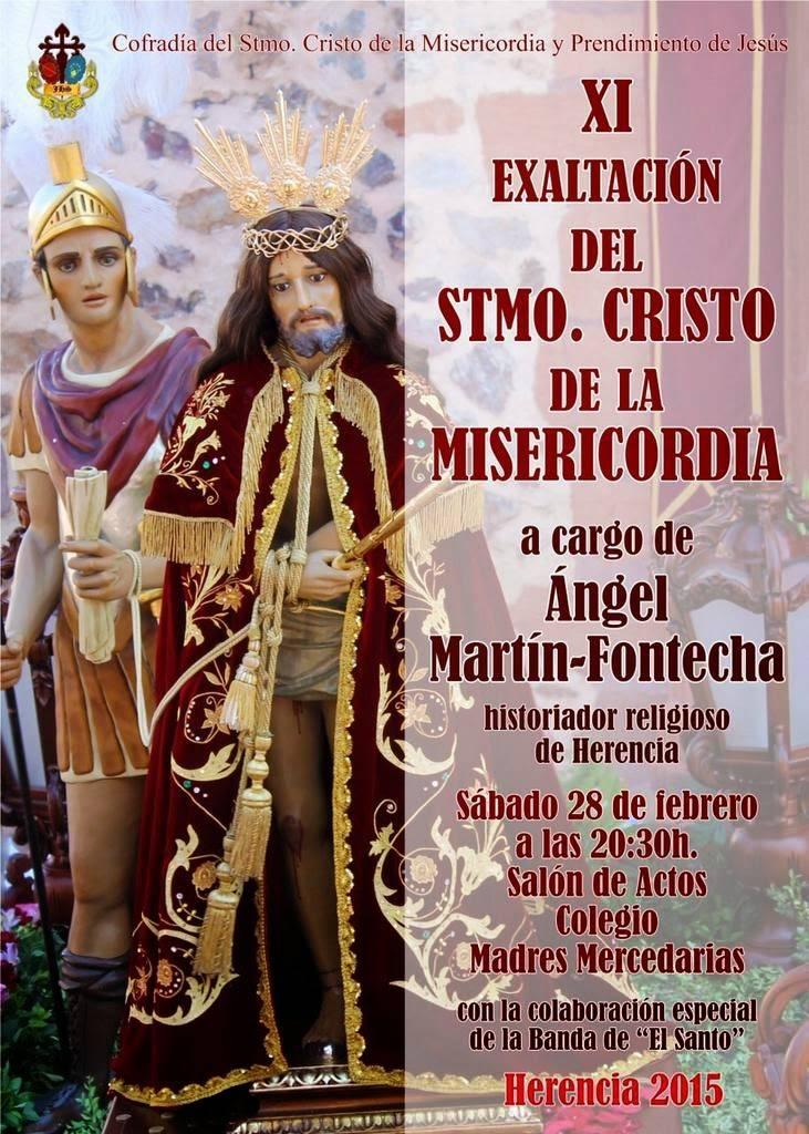EXALTACIONCRISTO2015 - Ángel Martín-Fontecha pondrá voz a la XI Exaltación del Cristo de la Misericordia