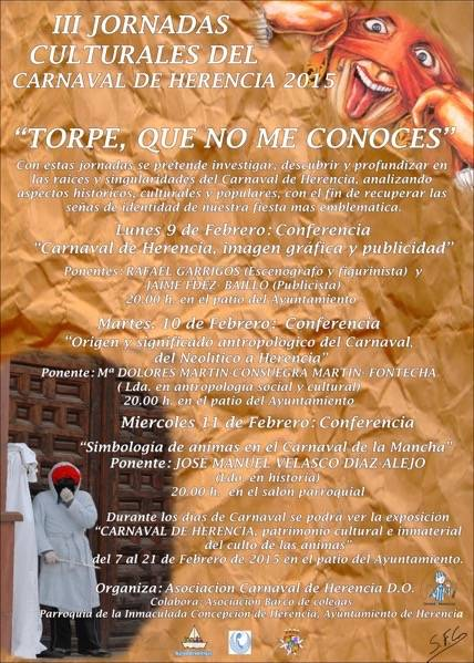 III Jornadas Culturales del Carnaval de Herencia - Presentado el programa de actos del Carnaval que comienza esta semana
