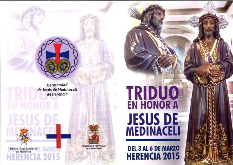 Triduo Cristo de Medinaceli de Herencia 2015 - Triduo en honor a Jesús de Medinaceli