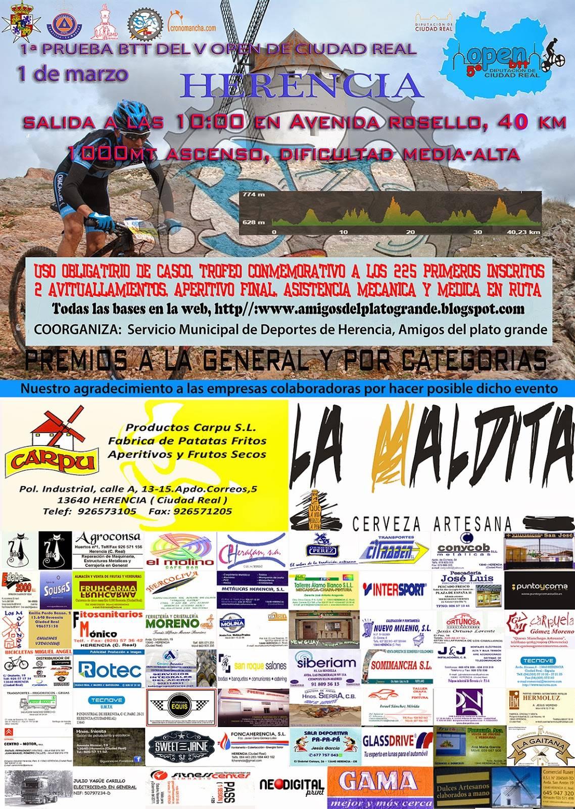 cartel open ciudad real en herencia - 1ª Prueba BTT del V Open de Ciudad Real en Herencia