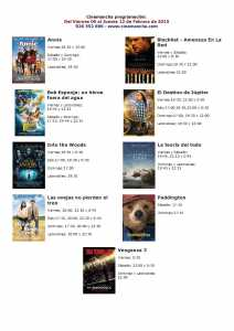 cartelera de cinemancha del 06 al 12 de febrero