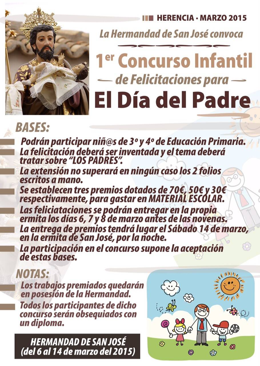 primer concurso infantil felicitacion dia del padre