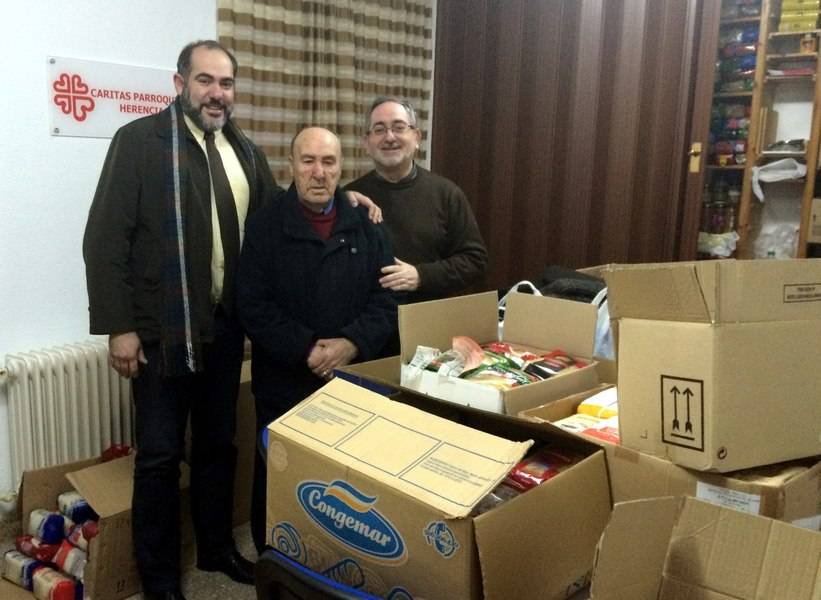 El Ayuntamiento de Herencia entrega a Cáritas más de 1.000 kilos de alimentos 1