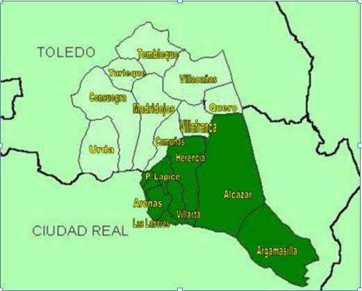 Mapa del Campo de San Juan