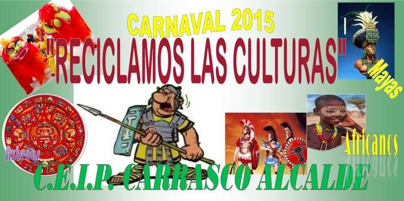 pancarta del defile de carnaval del colegio Carrasco Alcalde de Herencia - El colegio Carrasco Alcalde prepara su desfile escolar con más de 700 personas