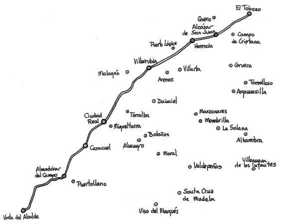 ruta de sancho panza - Huellas del Quijote en el Campo de San Juan