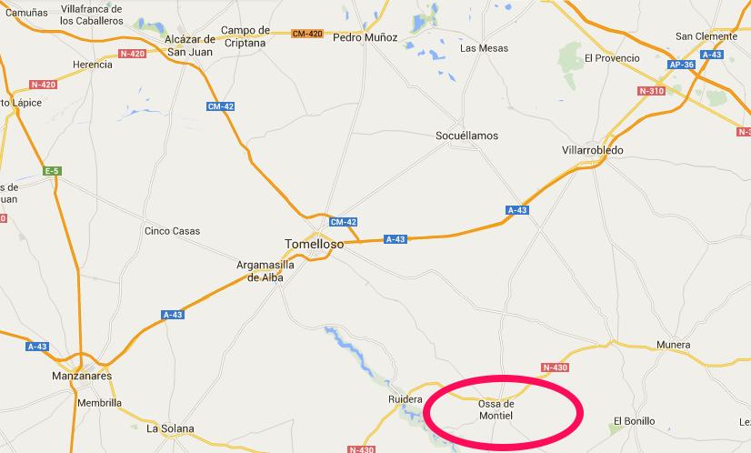 terremoto con epicentro en Ossa de Montiel