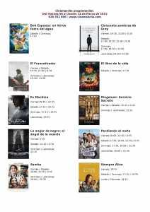 CARTELERA DE CINEMANCHA  DEL  06 AL 12 DE MARZO
