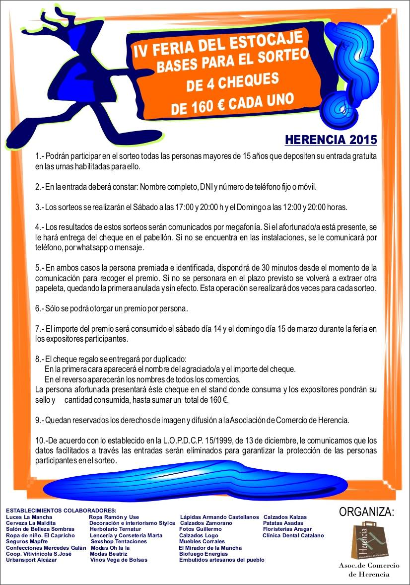 Cartel bases sorteo cheque regalo 2015