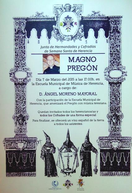 Ángel Moreno Mayoral dará el pregón de Semana Santa 1