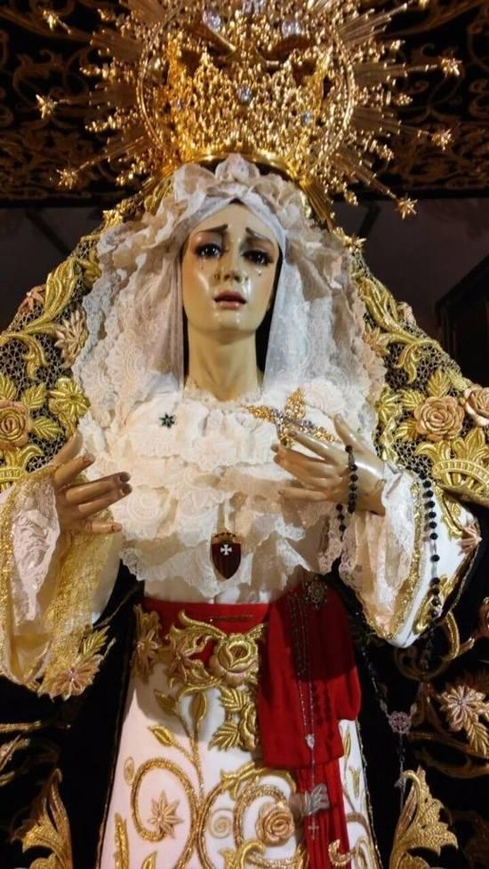 Herencia Stma de la Soledad g foto SGN - Todo preparado para el comienzo de la Semana Santa en Herencia
