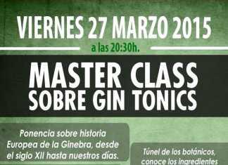 Master Class sobre gin tonics