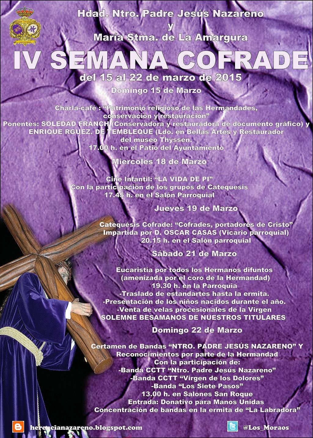 """Cartel de la IV Semana Cofrade de """"Los Moraos"""" de Herencia"""