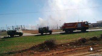 intervencion de la UME en la planta de gas de Alcazar 11 337x186 - La UME interviene en la planta de gas de Alcázar de San Juan