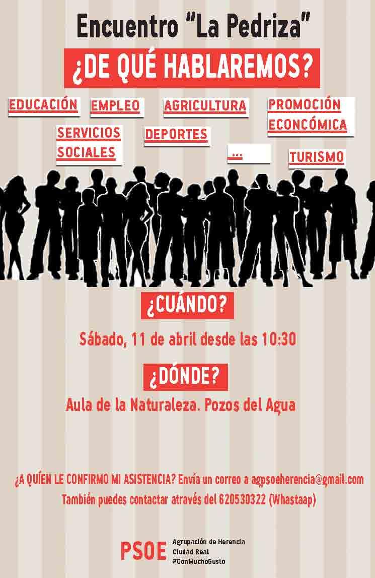 El PSOE de Herencia celebrará un encuentro sectorial para la confección de su contrato ciudadano 1