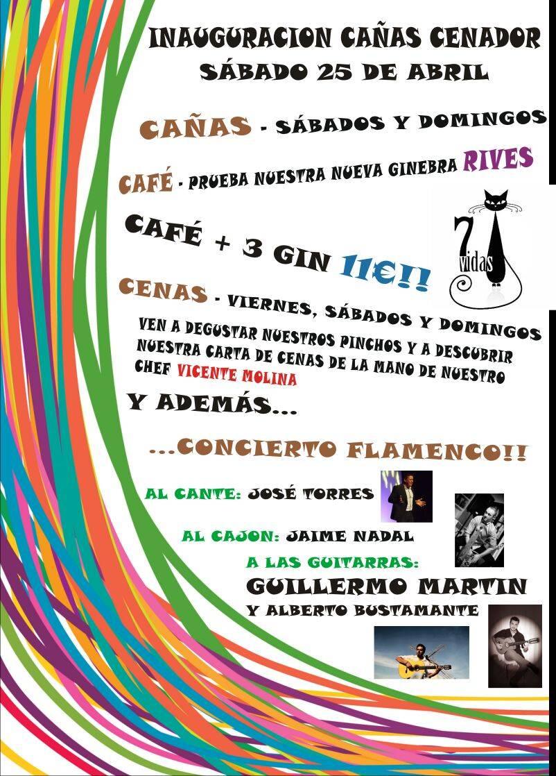 Concierto flamenco para inaugurar de la terraza-cenador 7 Vidas 1