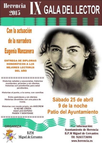 Cuentacuentos Eugenia Manzanera - Programación de la XXIV Semana de la Biblioteca de Herencia
