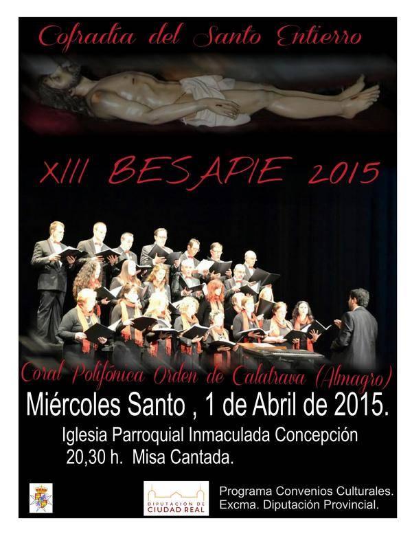XII Besapie Santo Entierro Coral polifónica Orde de Calatrava de Almagro - La cofradía del Santo Entierro organiza su tradicional besapié