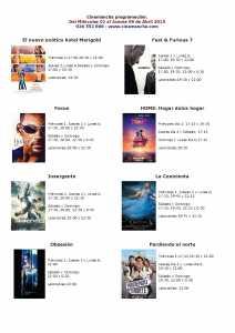 cartelera de cinemancha ( del 01 al 09 de abril )