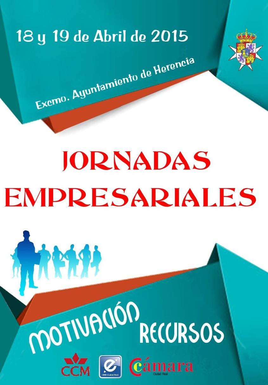 herencia cartel jornadas empresariales - El Ayuntamiento de Herencia y la Cámara de Comercio organizarán las Jornadas Empresariales los días 18 y 19 de abril
