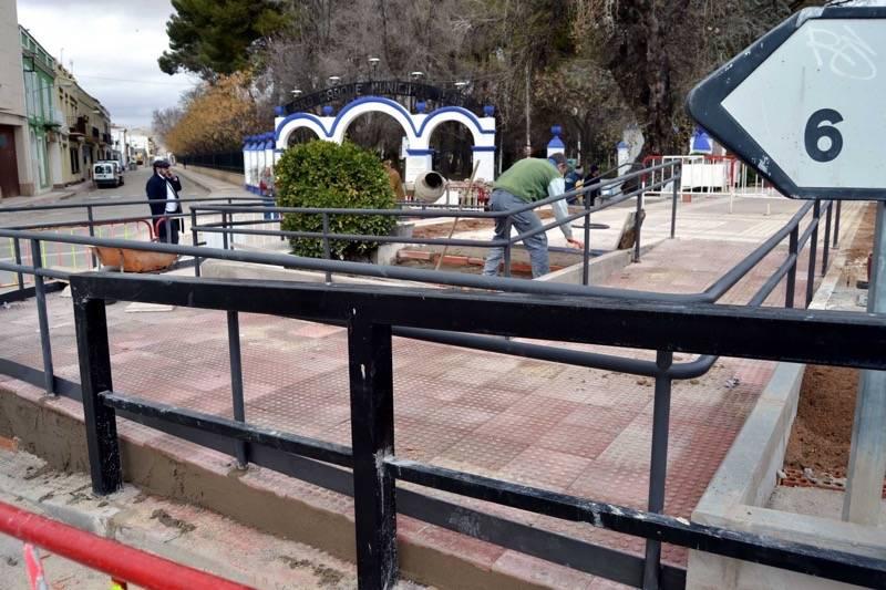 herencia nueva pasarela red - Mejoras de accesibilidad y arreglos en el cementerio y en las inmediaciones a la entrada principal del parque
