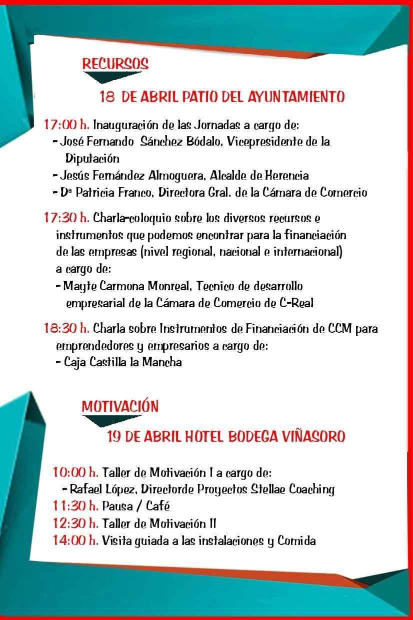 herencia programa jornadas empresariales red - El Ayuntamiento de Herencia y la Cámara de Comercio organizarán las Jornadas Empresariales los días 18 y 19 de abril