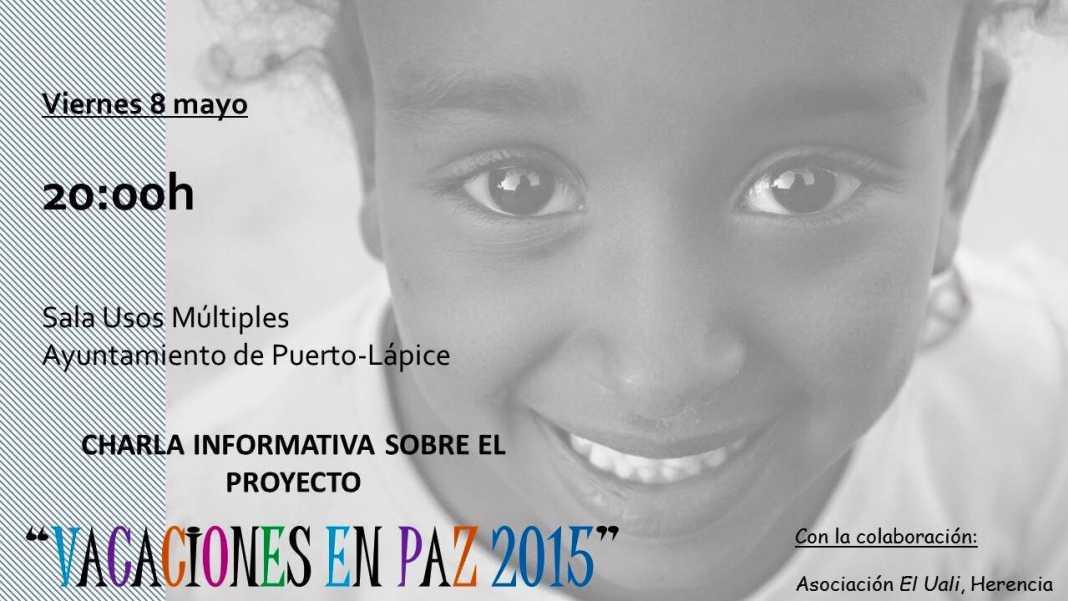 """Charla informativa sobre el programa """"Vacaciones en Paz"""" en Puerto Lápice 1"""