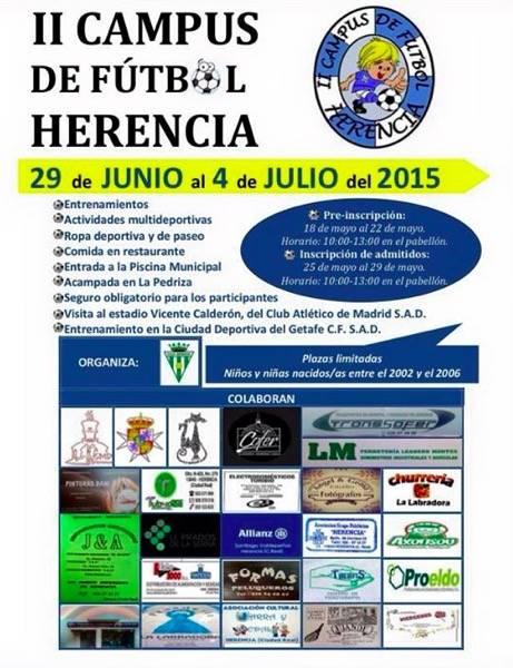 II Campus de futbol de Herencia - II Campus de fútbol Herencia