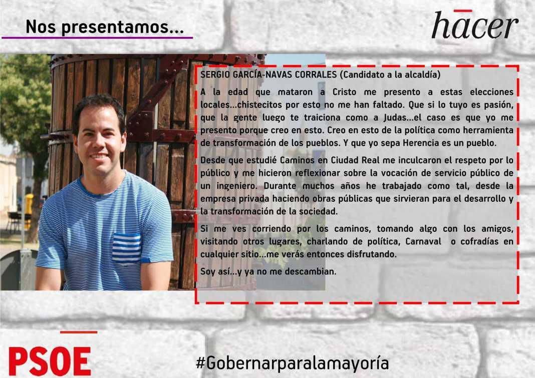 Sergio Garcia NAvas candidato a la alcaldia de Herencia por el PSOE 1068x755 - El PSOE de Herencia presenta las líneas principales de su programa electoral en ImasTv