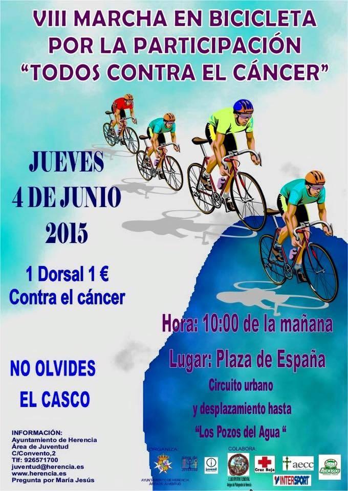 VIII Marcha en bicicleta de Herencia contra el cancer - Juventud organiza la VIII Marcha en bicicleta por la participación y contra el cáncer