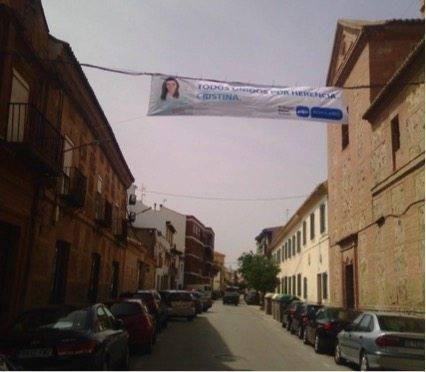 Anexo 2: Fotografías de las pancartas y banderolas del Partido Popular ubicadas en espacios no autorizados