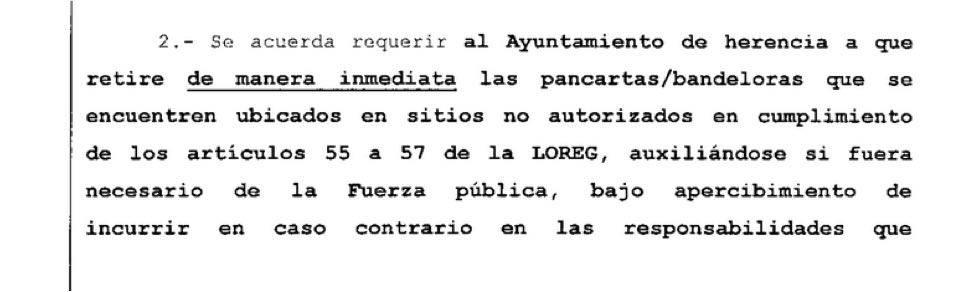 anexo1 junta electoral zona - La Agrupación Electoral de Vecinos de Herencia gana la demanda contra el PP