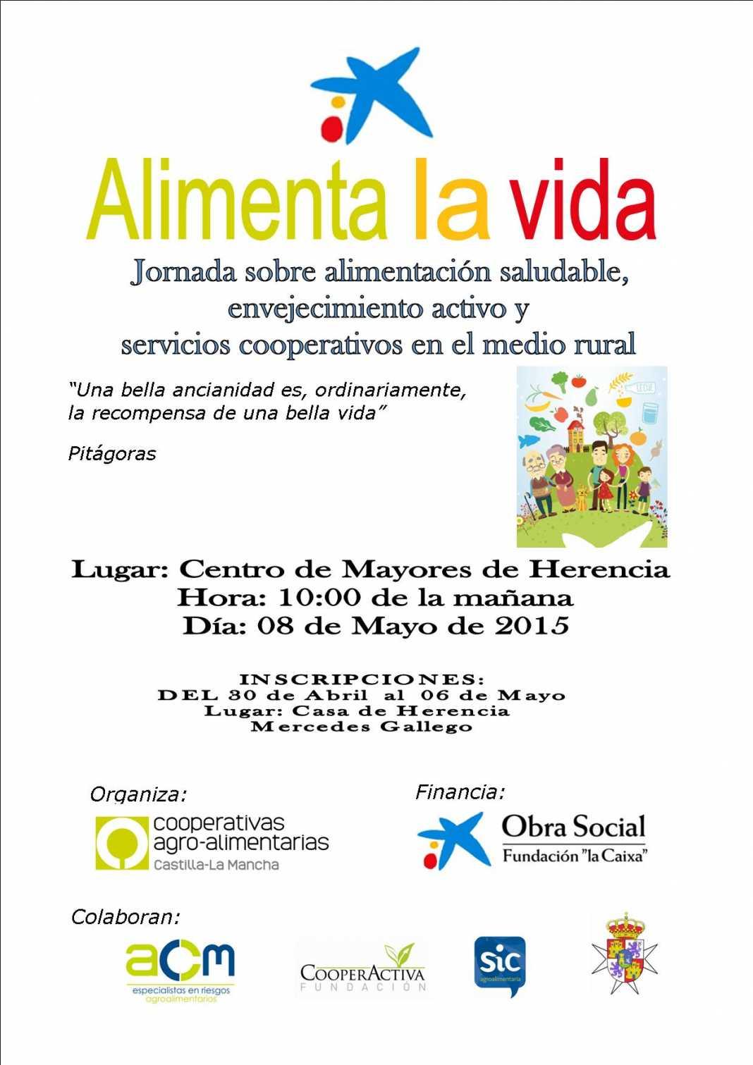 cartel alimenta la vida5 1068x1511 - Cooperativas Agroalimentarias organiza una jornada sobre alimentación saludable y envejecimiento activo