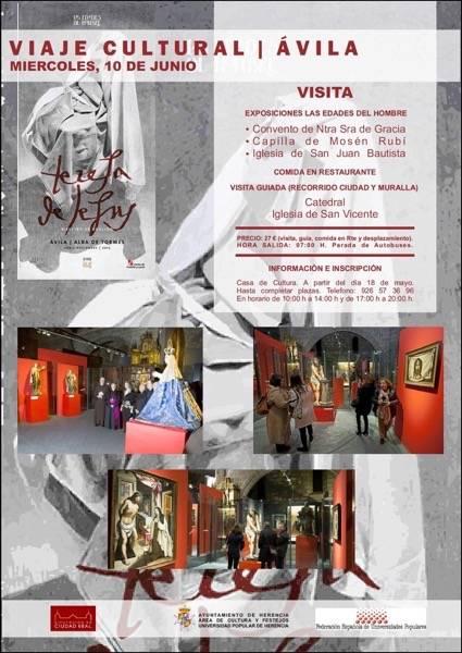 herencia cartel viaje a avila def - El Ayuntamiento de Herencia programa un junio muy cultural, con teatro, música y la clausura de todo un año en la Universidad Popular